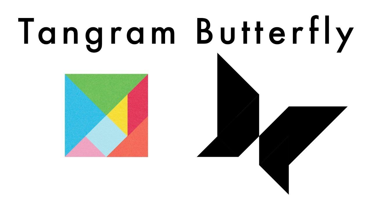 Make This Tangram Butterfly 🦋 - Download A Free Tangram pour Tangram Grande Section