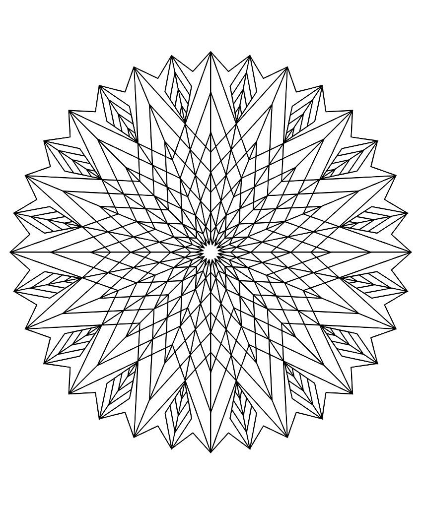 Mandala A Colorier Difficile 18 - Mandalas Difficiles (Pour pour Coloriage Graphique