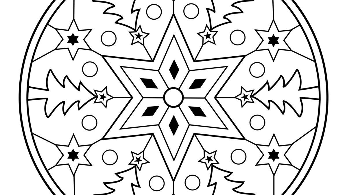Mandala De Noël Gratuit À Imprimer - Un Max D'idées pour Dessin A Colorier De Noel Gratuit A Imprimer