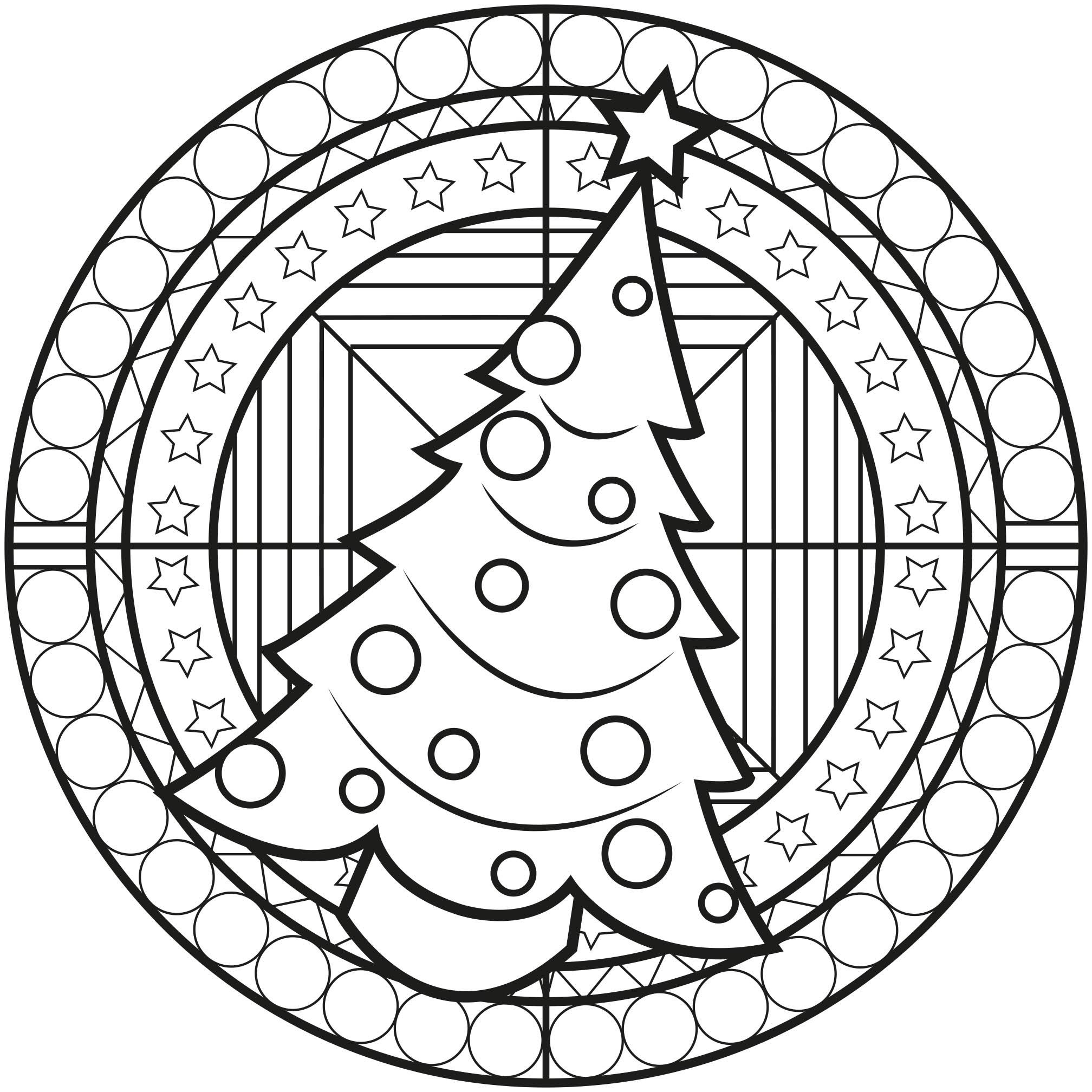 Mandala Sapin De Noël - Mandalas Sur Le Thème Des Fleurs Et avec Sapin De Noel A Colorier Gratuit