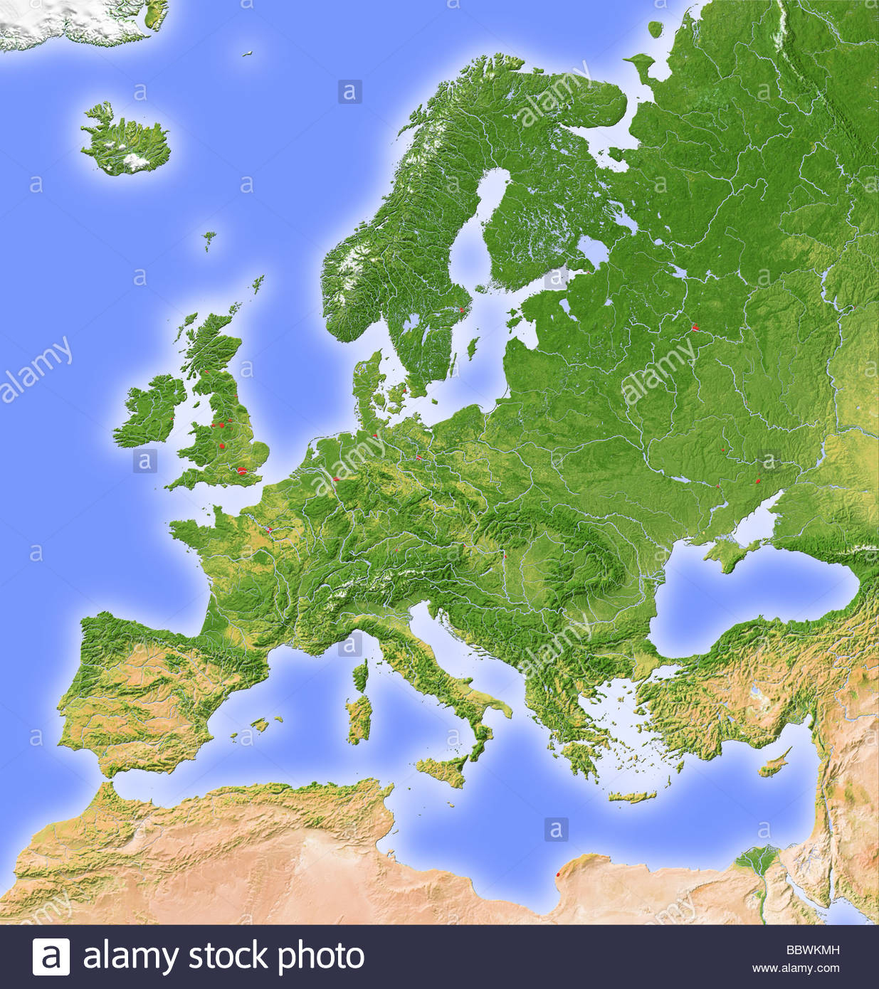 Map Of Europe Stock Photos & Map Of Europe Stock Images - Alamy à Carte De L Europe En Relief