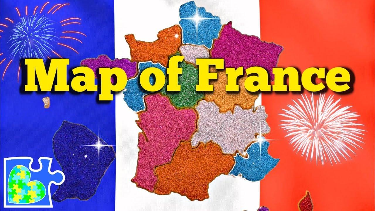 Map Of France || 18 Regions Of France || Carte De France avec Map De France Regions