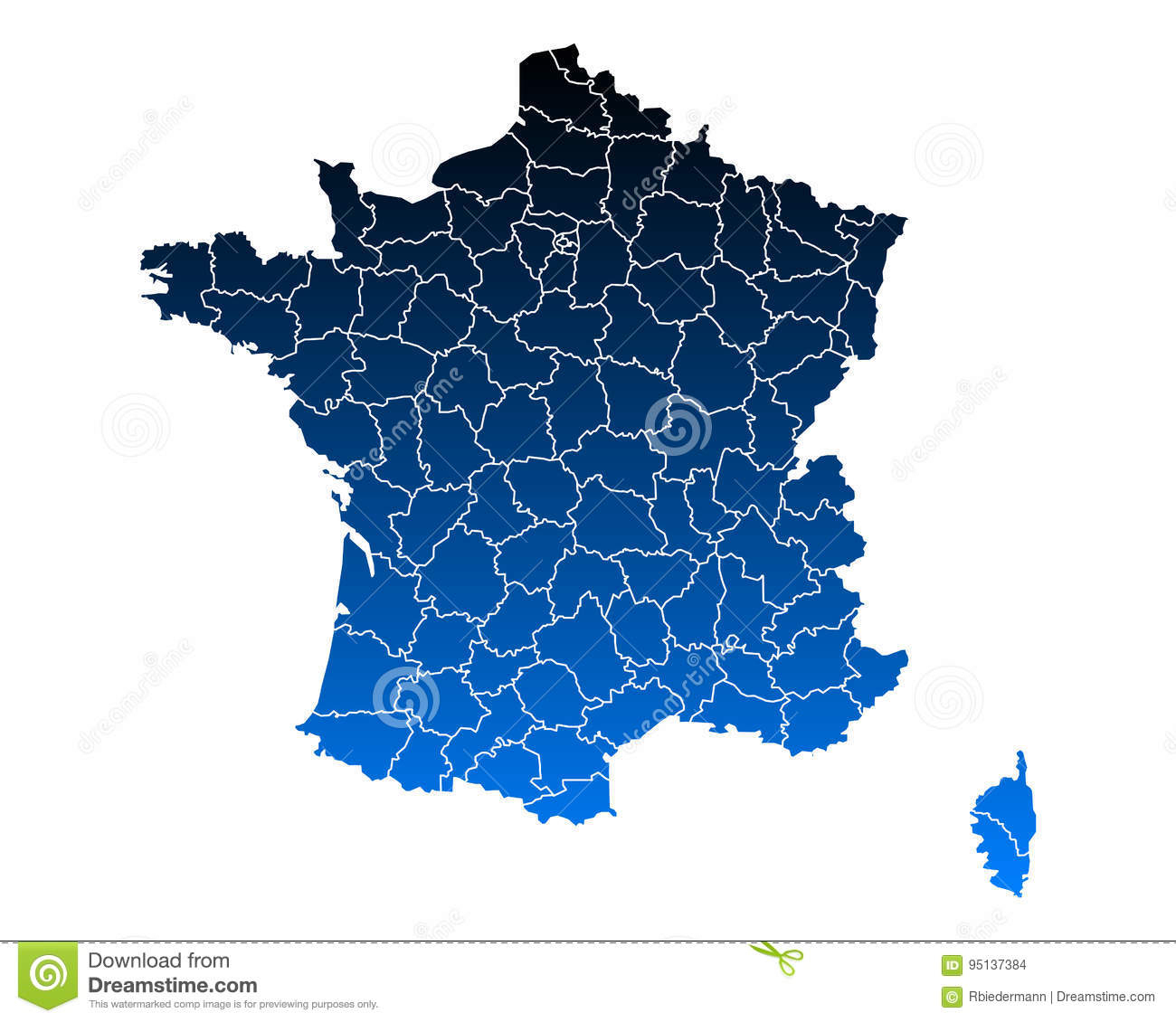Map Of France Stock Vector. Illustration Of Departement encequiconcerne Puzzle Departement