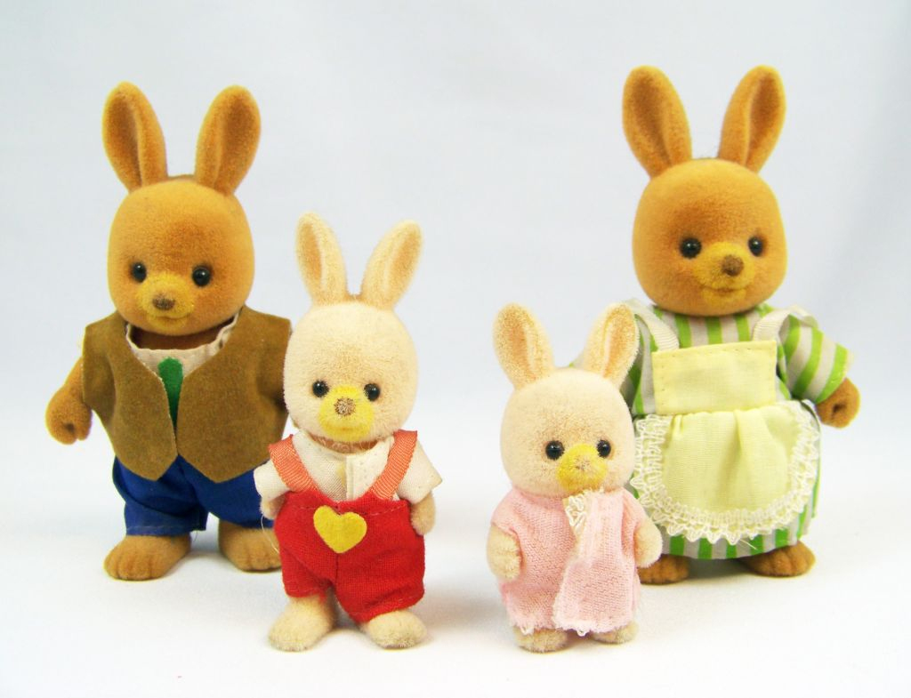 Mapletown - Sylvanian Families - Rabbit Familly (Loose) serapportantà Lapin Lulu