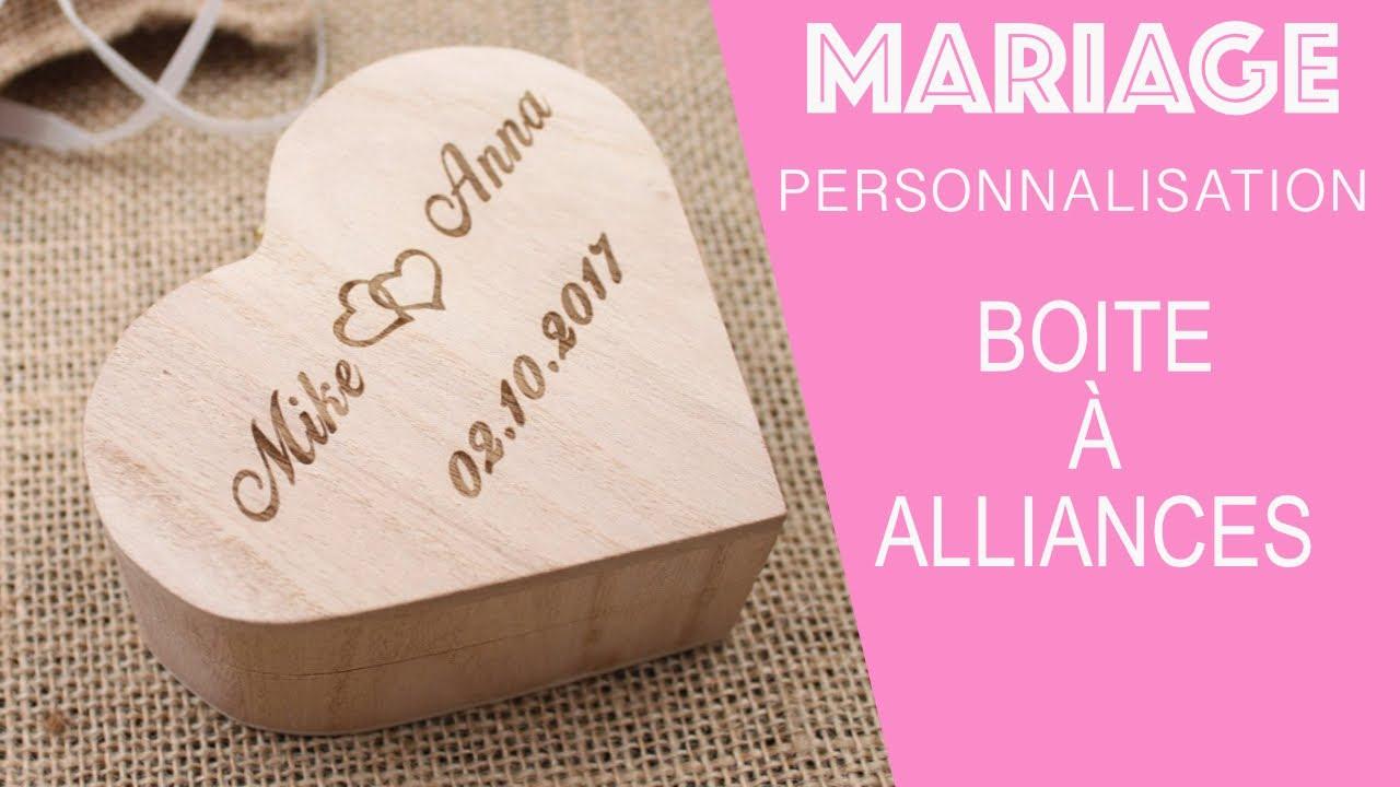 Mariage -Personnaliser Sa Boite Pour Alliances - concernant Boite À Personnaliser