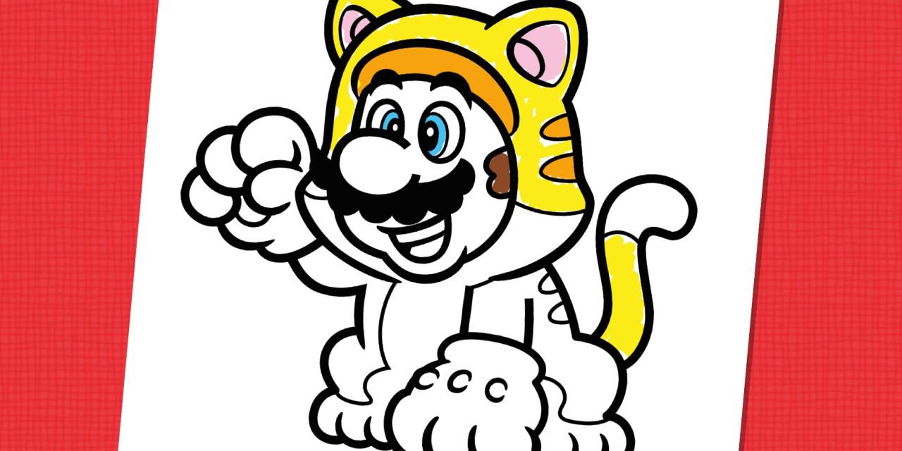 Mario Chat À Colorier | Nintendo Kids pour Dessin À Colorier Sur L Ordinateur