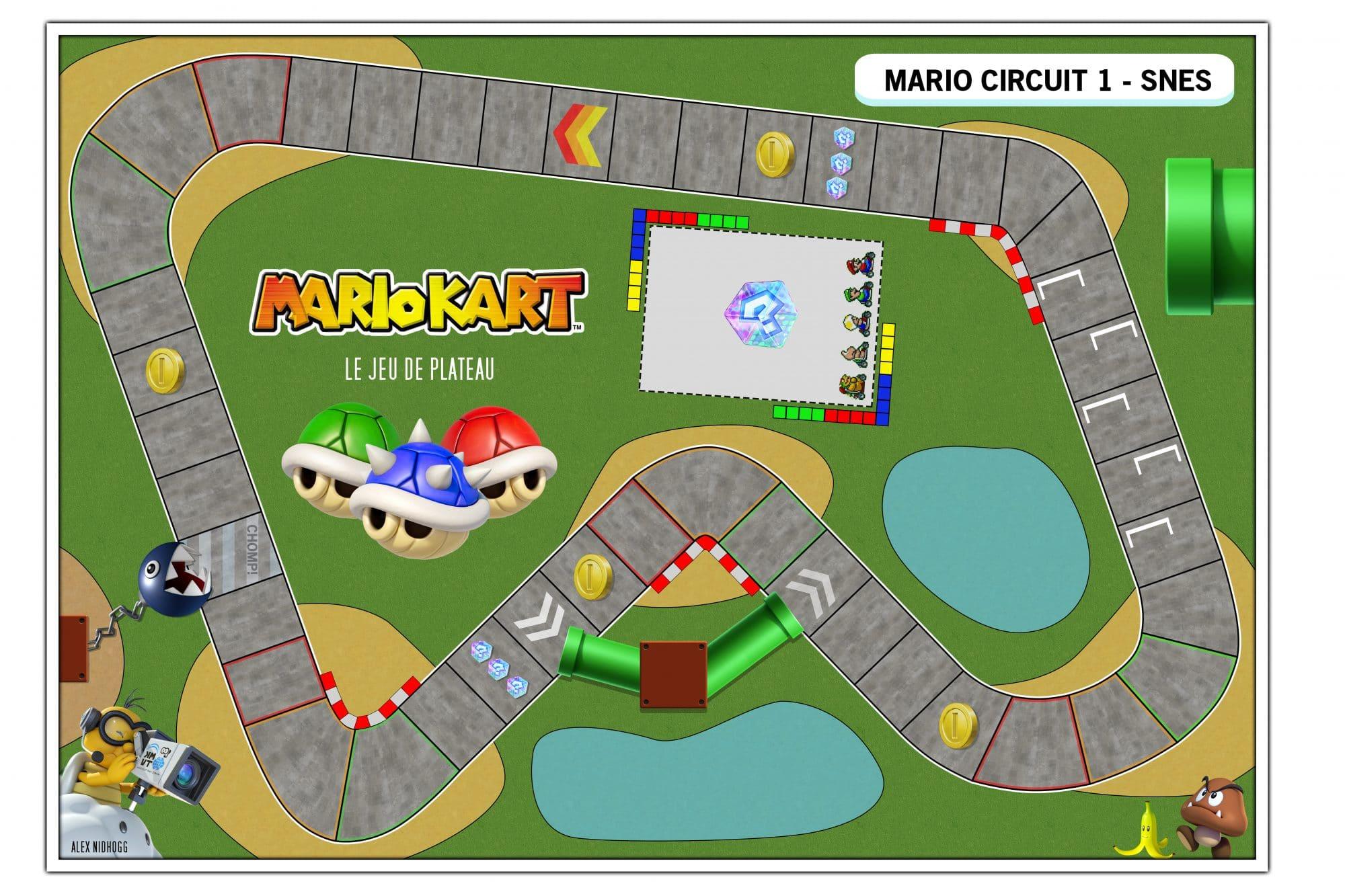 Mario Kart, Le Jeu De Société Do-It-Yourself – Guide Du tout Plateau De Jeux De Société À Imprimer