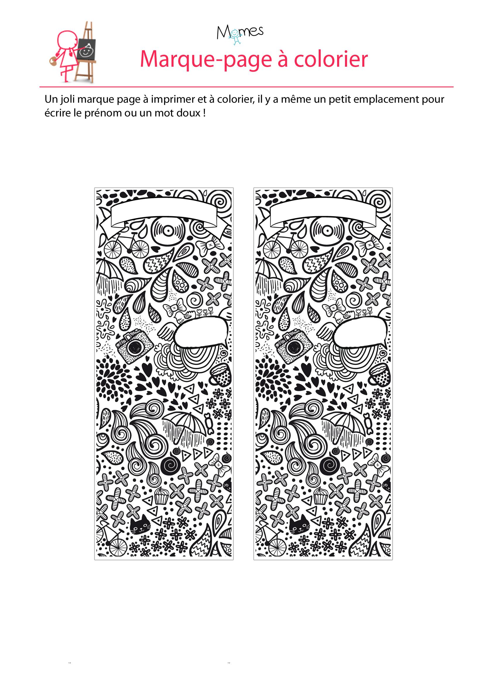 Marque-Page Pour La Fête Des Mères 1 - Momes intérieur Marque Page À Imprimer