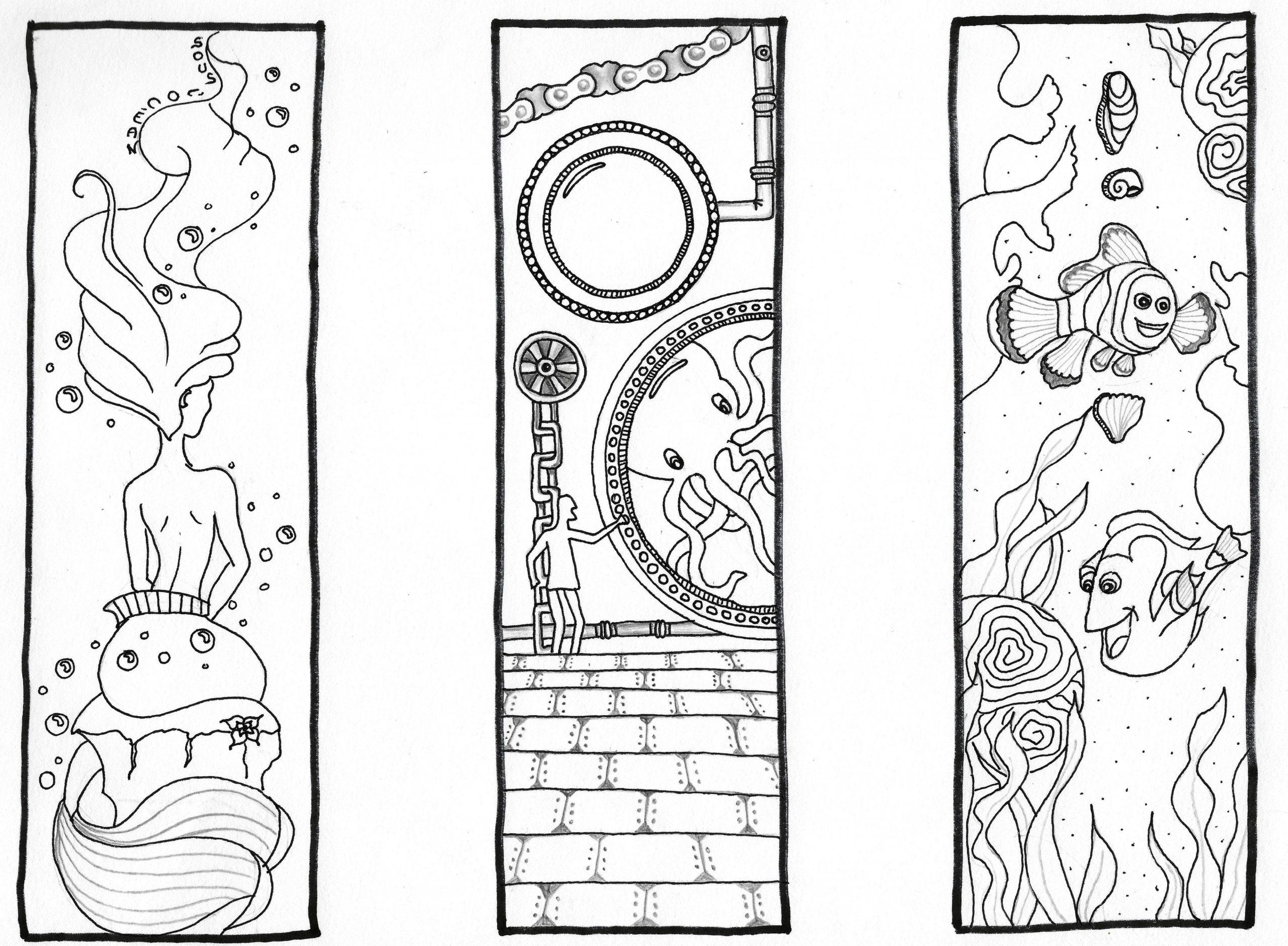 Marque-Pages À Colorier - Fiches De Préparations (Cycle1 intérieur Marque Page À Imprimer