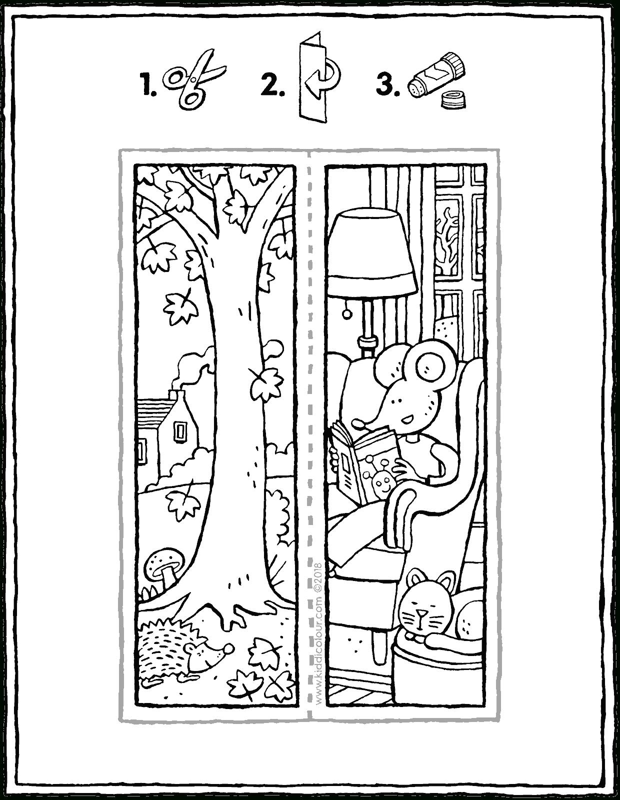 Marque-Pages Automne - Kiddicoloriage pour Marque Page À Colorier