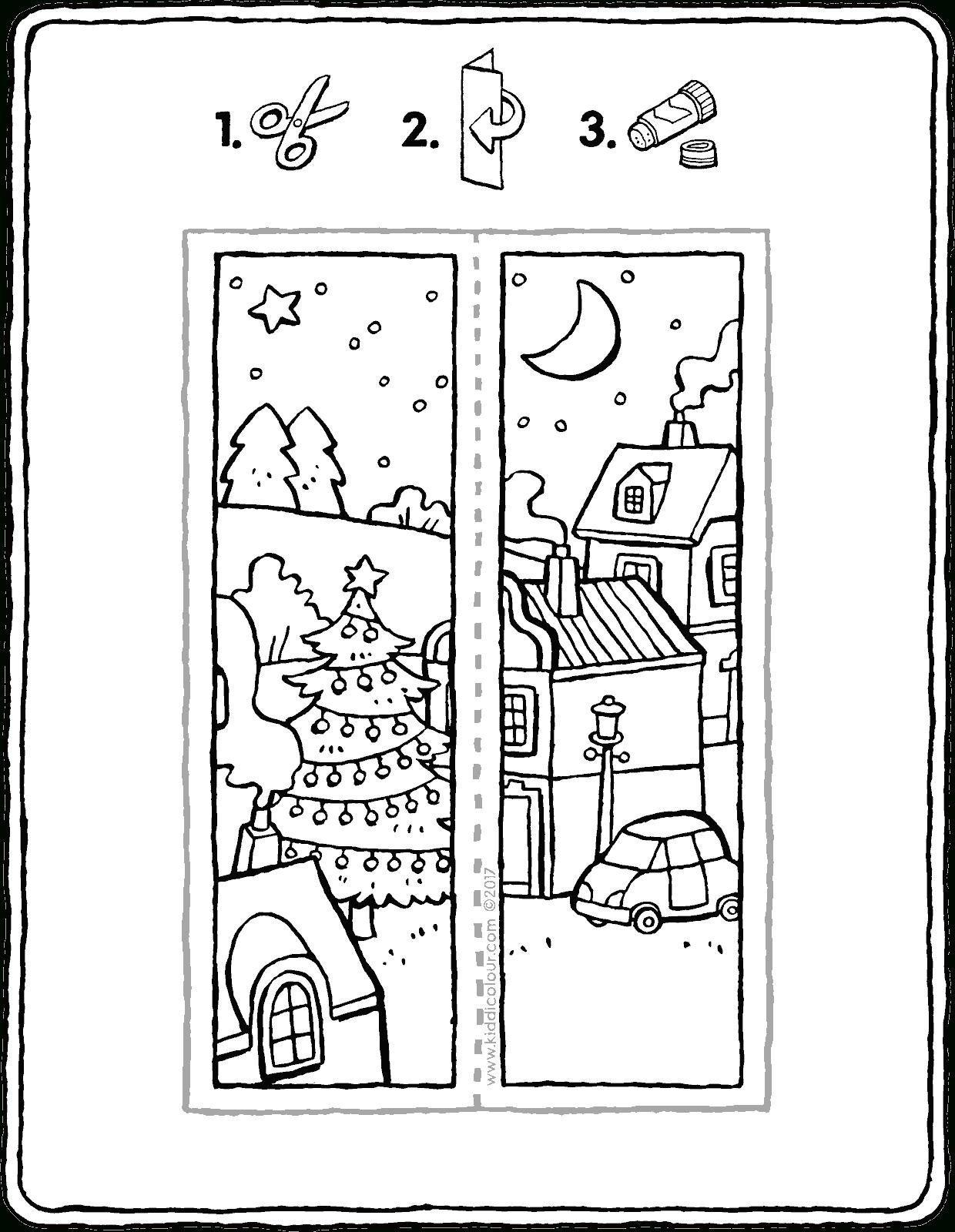 Marque-Pages De Noël - Kiddicoloriage avec Marque Page À Colorier