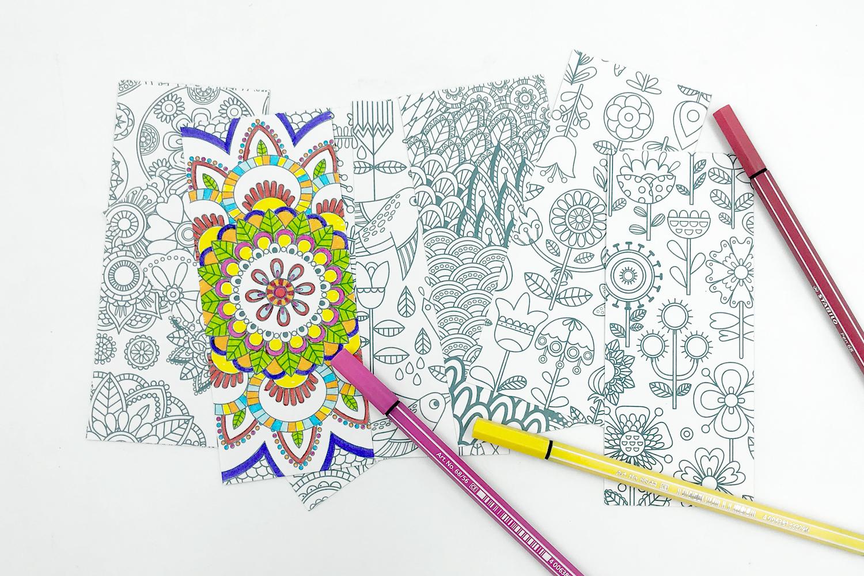 Marques-Pages À Colorier - 24 Coloriages - Mandalas - 10 Doigts pour Marque Page À Colorier