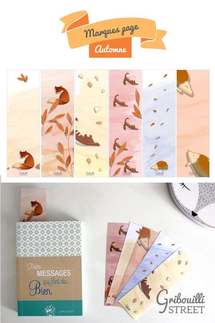 Marques Pages D'automne | Marque Page, Marque Page A dedans Marque Page À Imprimer