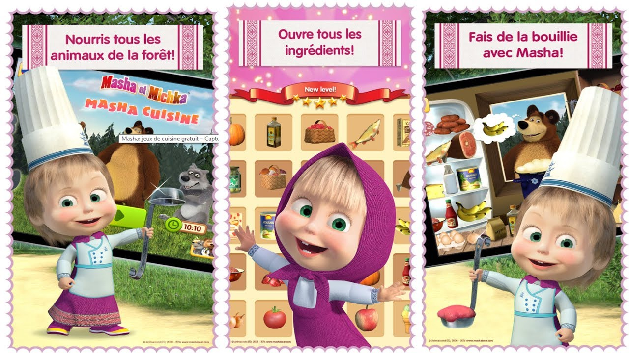 Masha Et Michka - Jeux De Cuisine Pour Enfants - Dessin Animé En Français #1 encequiconcerne Jeux De Fille Gratuit Animaux