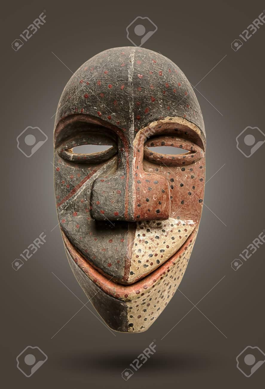 Masque Africain Isolé intérieur Masque Afriquain