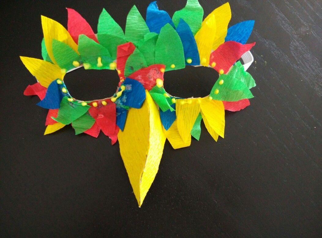 Masque Carnaval Perroquet   Déguisement Perroquet, Carnaval intérieur Masque Maternelle