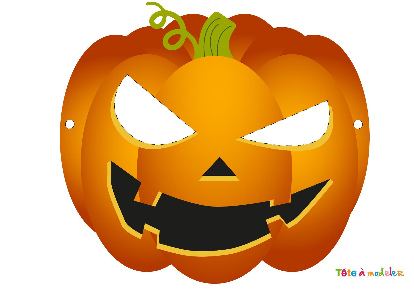 Masque Citrouille D'halloween À Imprimer Par Te^te À Modeler concernant Dessin Halloween Citrouille A Imprimer Gratuit
