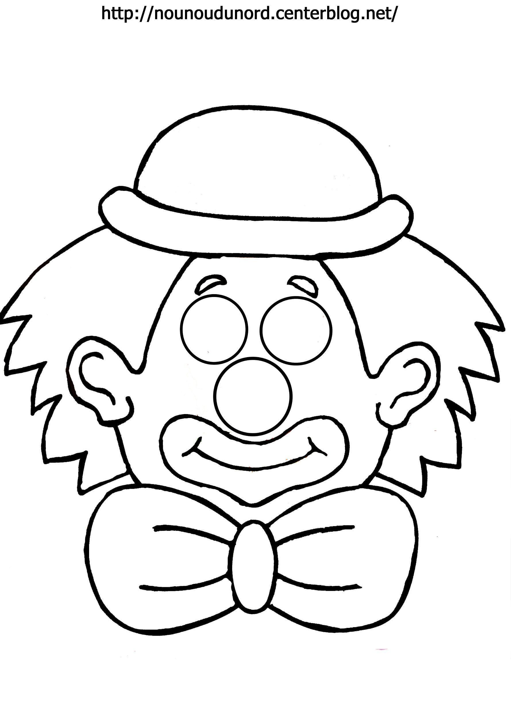 Masque Clown À Imprimer intérieur Coloriage Clown A Imprimer