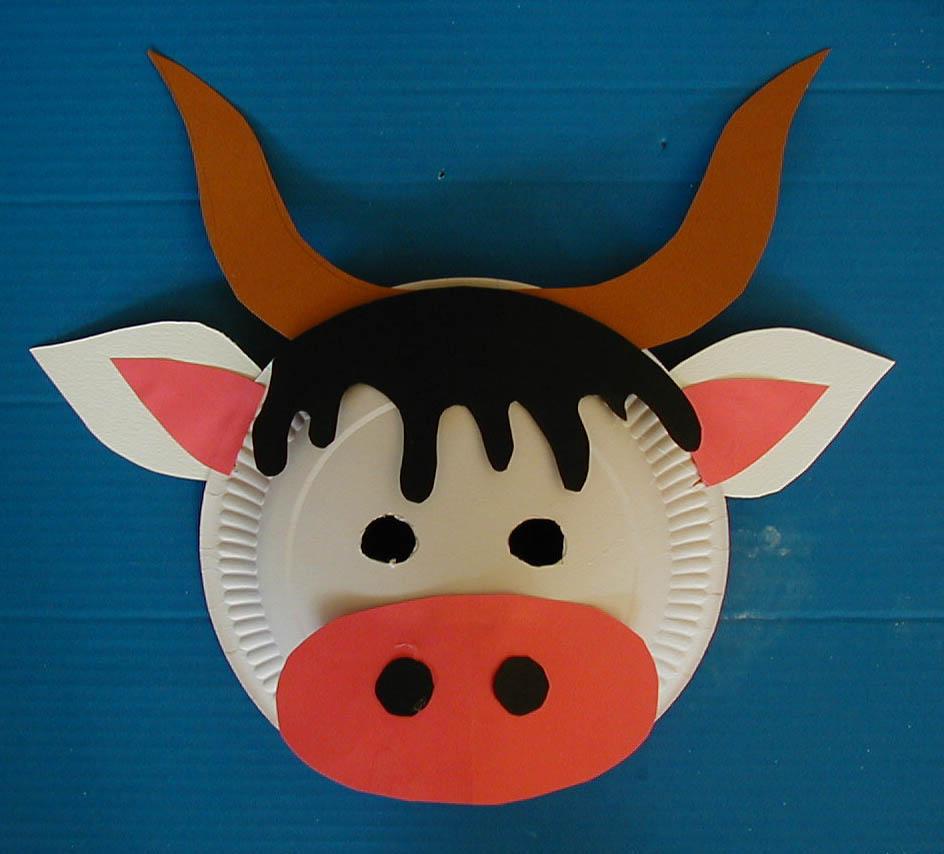 Masque De Vache - Tête À Modeler intérieur Masque Maternelle