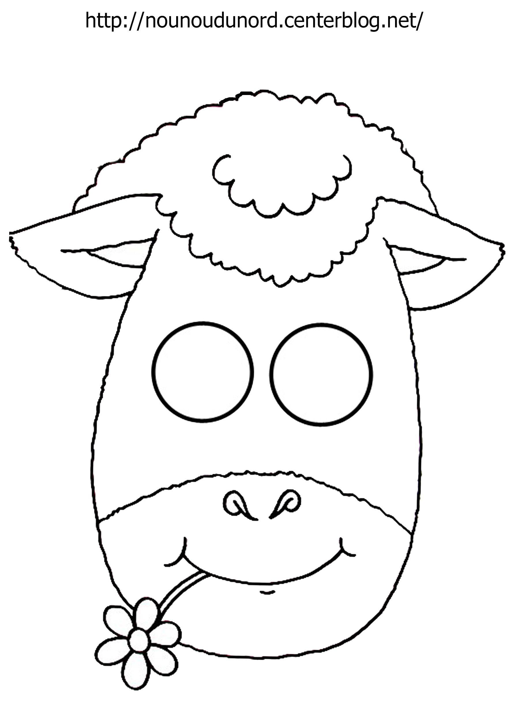 Masque Mouton À Imprimer intérieur Mouton À Colorier