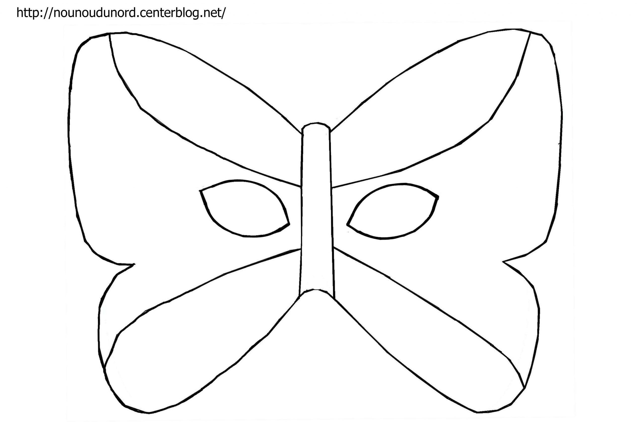 Masque Papillon À Imprimer serapportantà Masque Carnaval Maternelle À Imprimer
