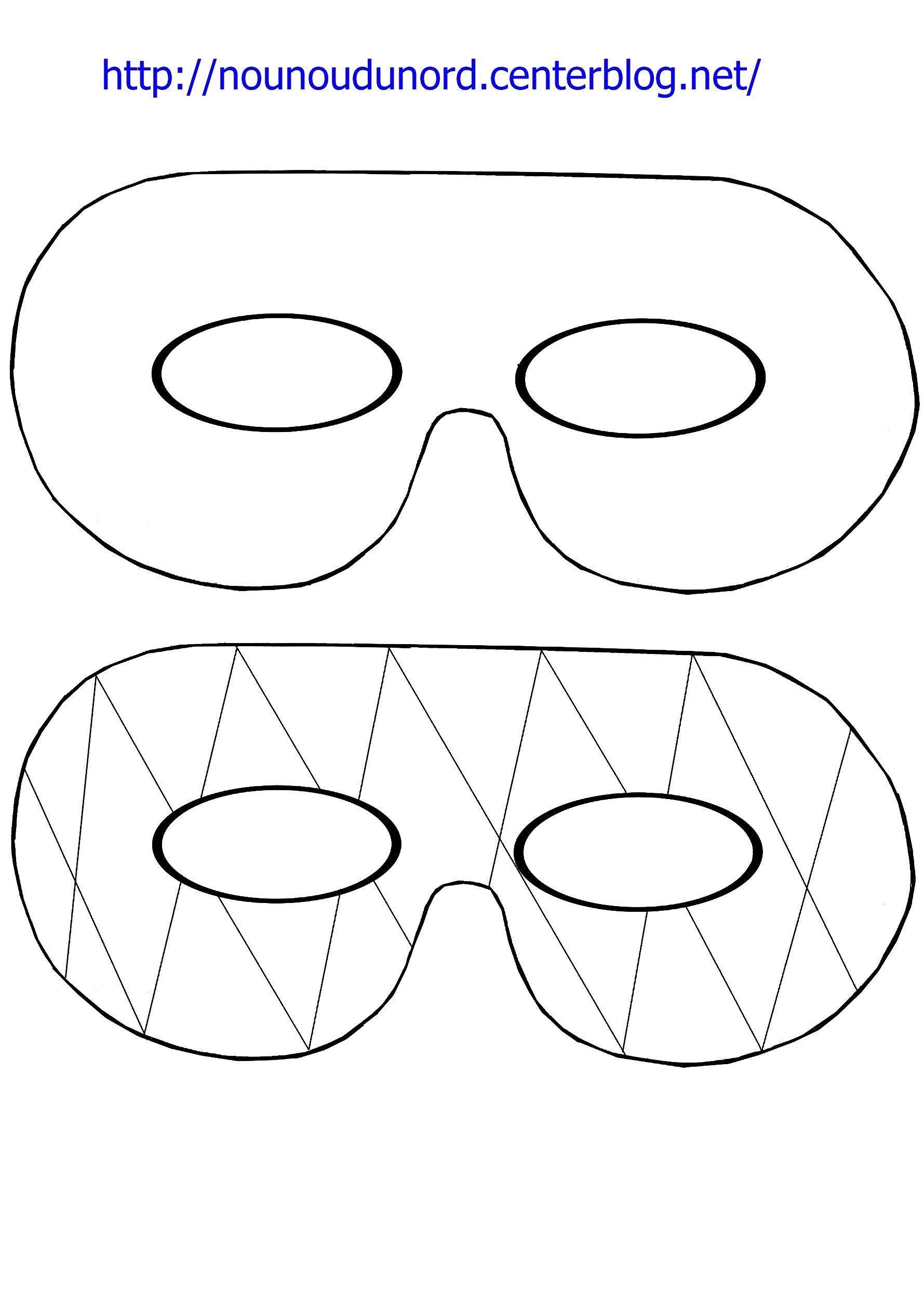 Masque Simple Et Arlequin À Imprimer tout Masque Carnaval Maternelle À Imprimer