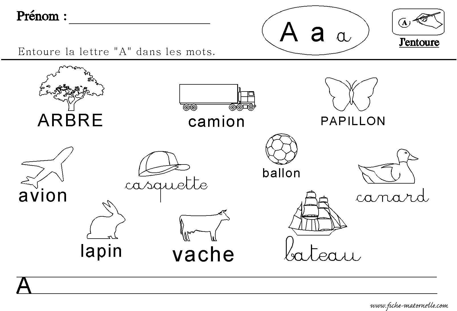 Maternelle : Lecture Des Lettres De L'alphabet | Lettre A à Activités Sur Les Lettres De L Alphabet En Maternelle
