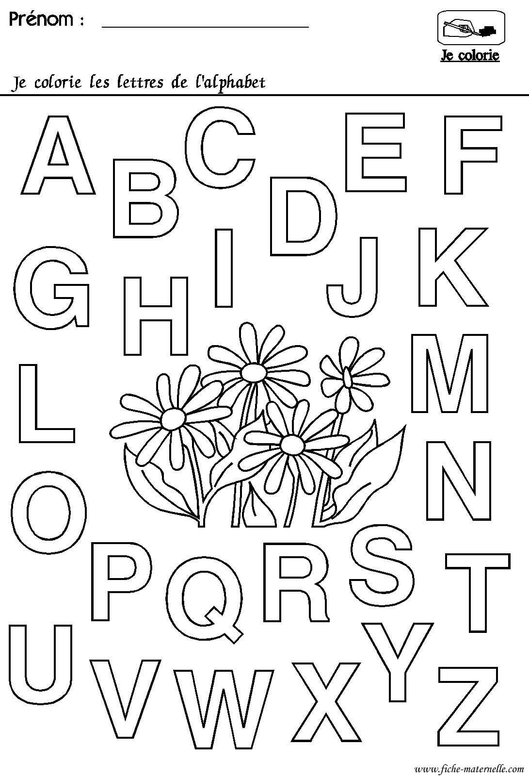 Maternelle Rentrée Des Classes : L'alphabet | Alphabet À destiné Coloriage Alphabet Complet A Imprimer