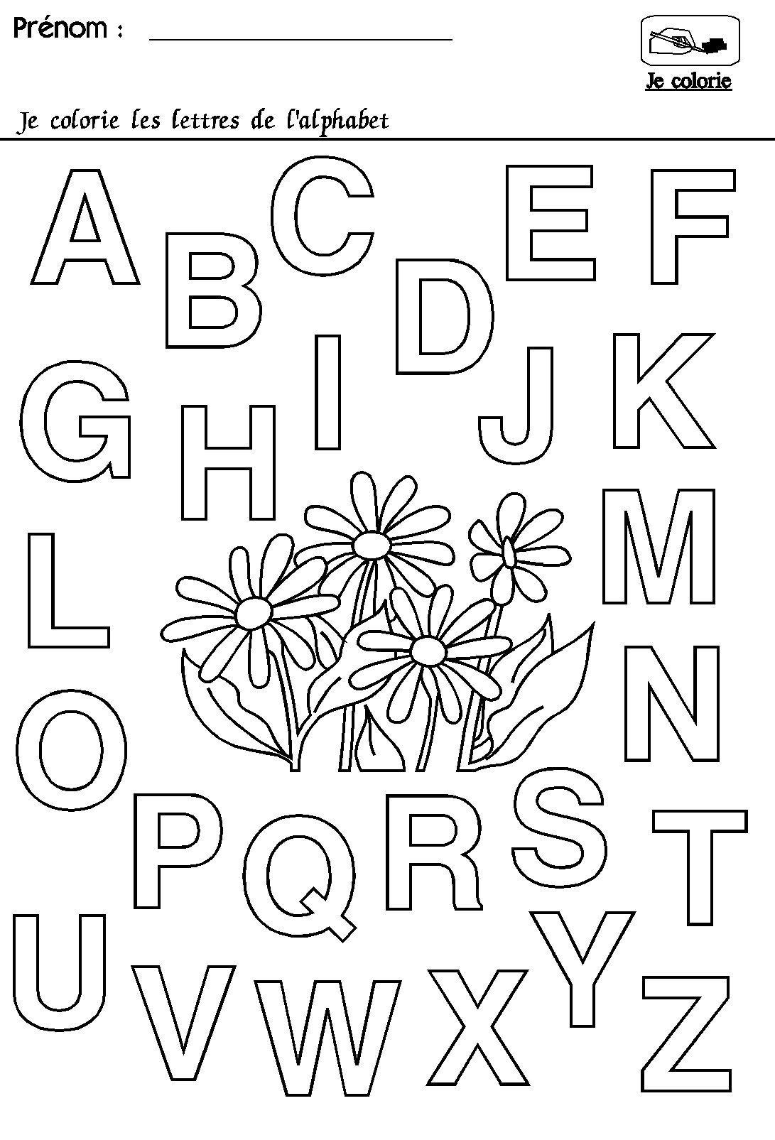 Maternelle Rentrée Des Classes : L'alphabet | Alphabet À pour Alphabet À Colorier Maternelle