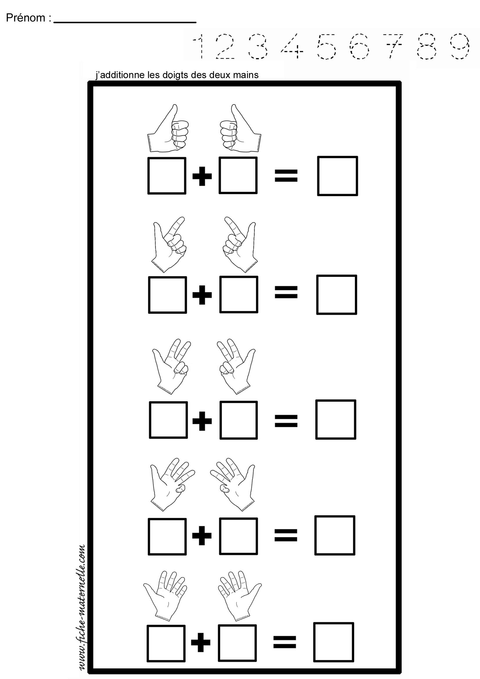 Mathématiques : Additionner Des Paires intérieur Addition Maternelle