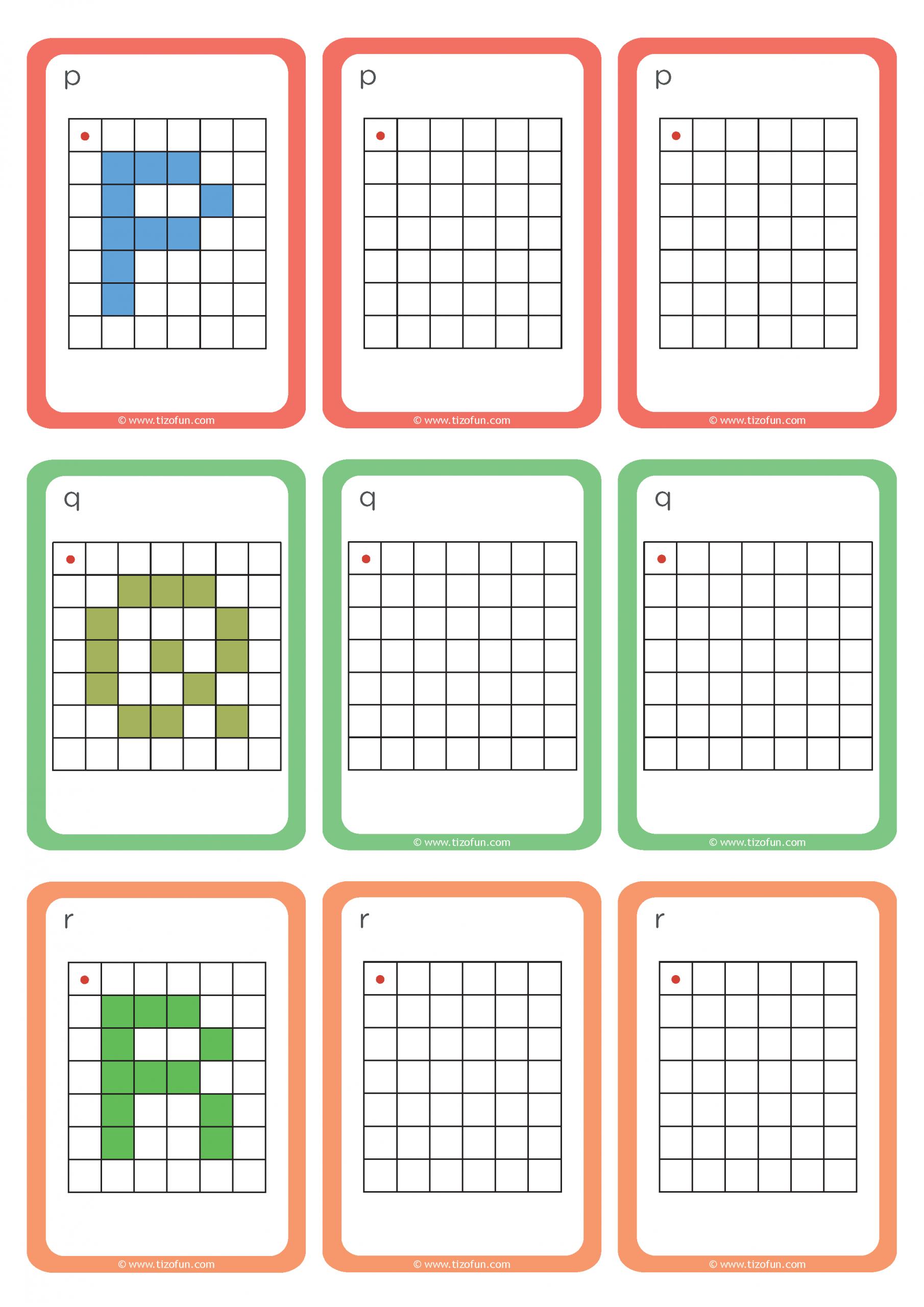 Maths-Deplacement-Dans-Un-Quadrillage-Reproduire-Les-Lettres avec Repérage Quadrillage Gs