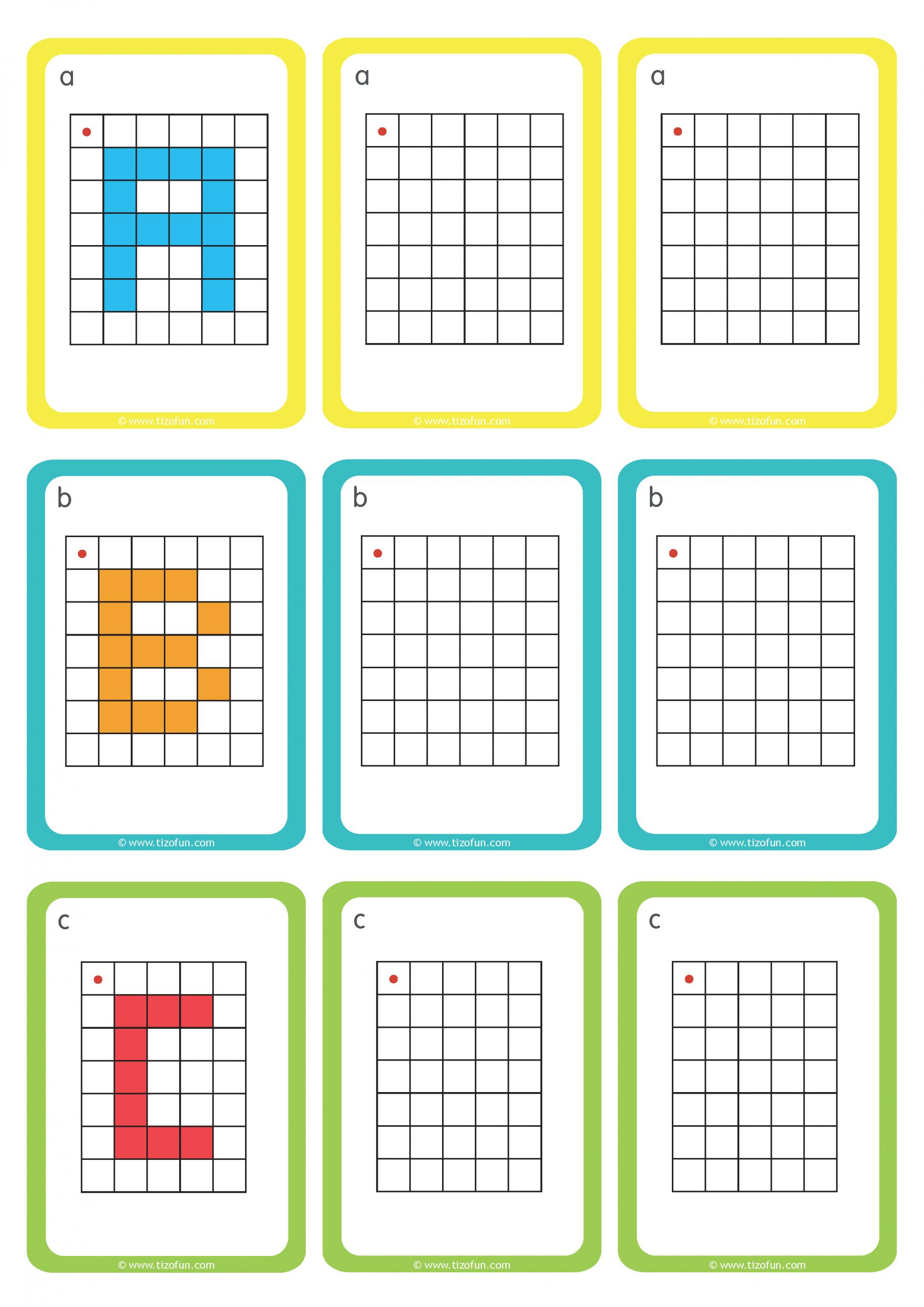 Maths-Deplacement-Dans-Un-Quadrillage-Reproduire-Les-Lettres pour Repérage Quadrillage Gs