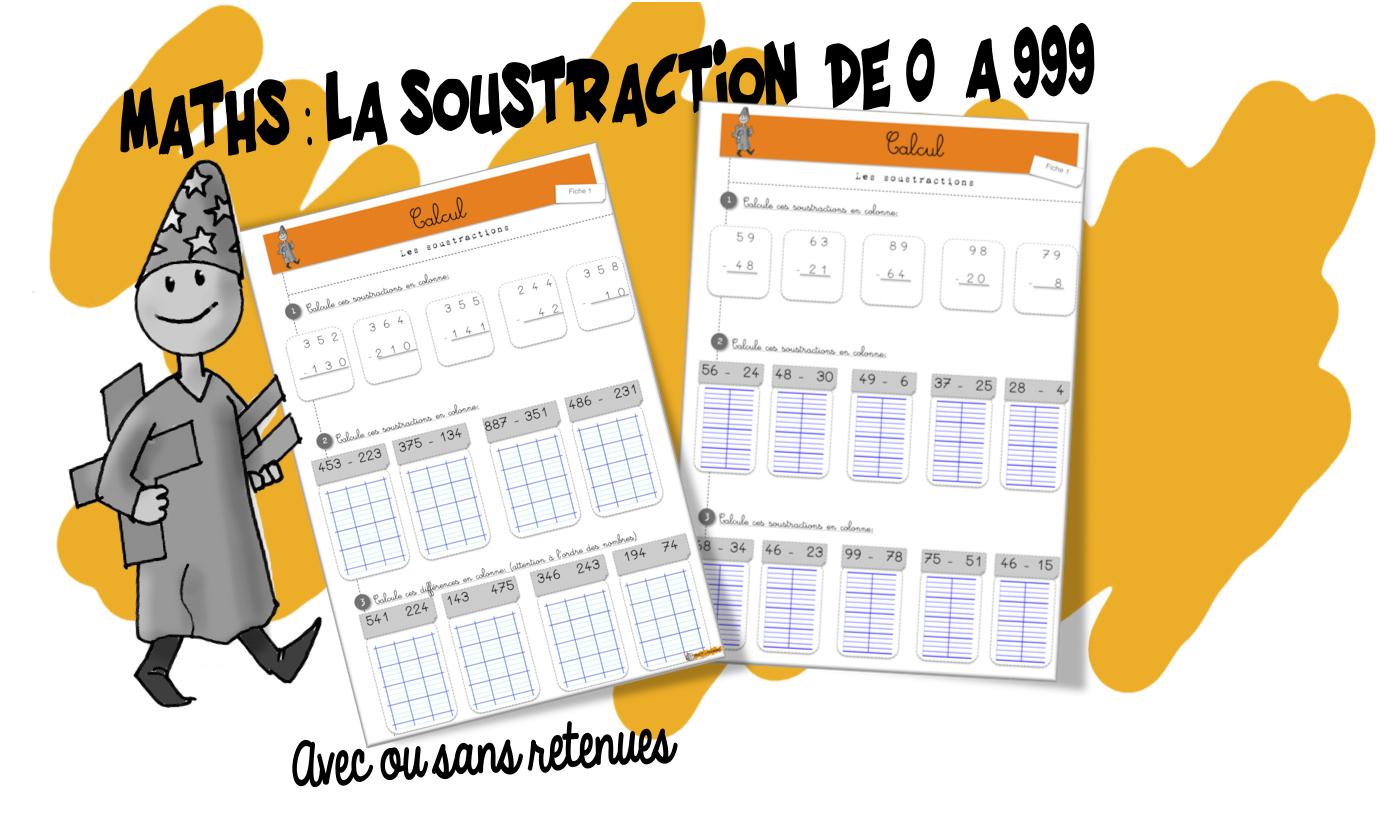 Maths : Entrainement . La Soustraction | Bout De Gomme à Exercice De Ce2 En Ligne