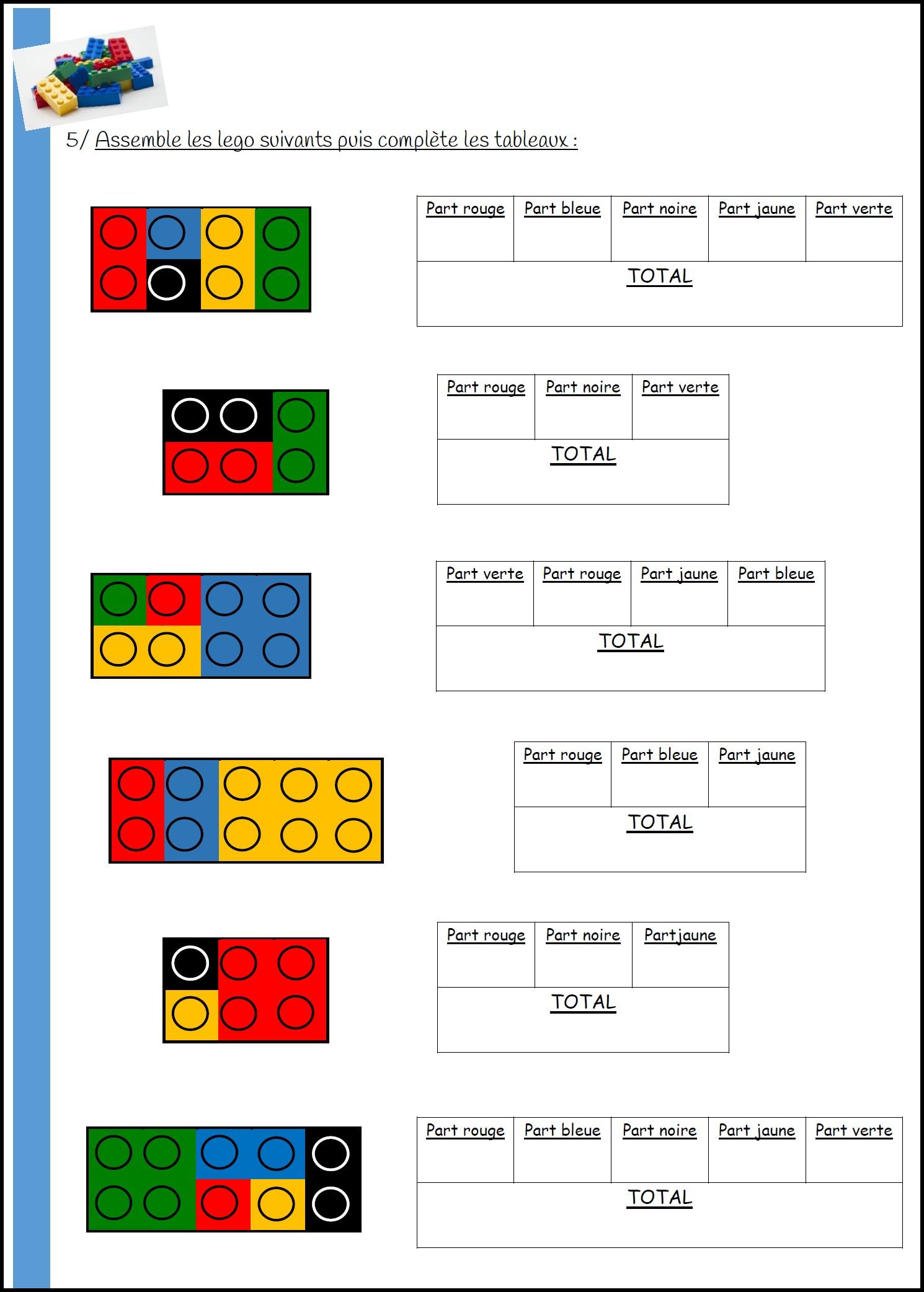 Maths Et Legos - Mimiclass pour Jeux Mathématiques Cm2 À Imprimer