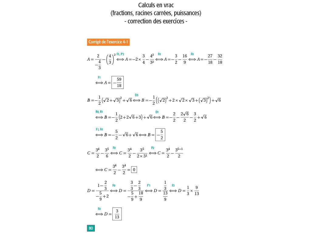 Maths Lycée Seconde - Réviser Les Fondamentaux à Exercice De Math Sur Les Puissances