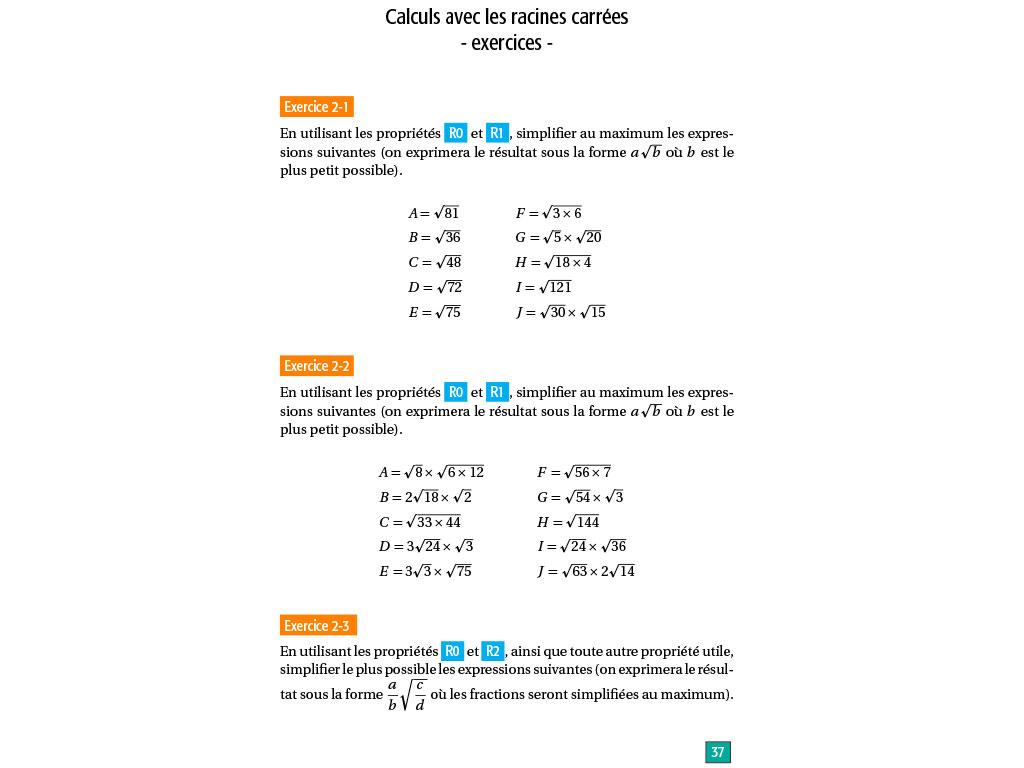 Maths Lycée Seconde - Réviser Les Fondamentaux dedans Exercice De Math Sur Les Puissances