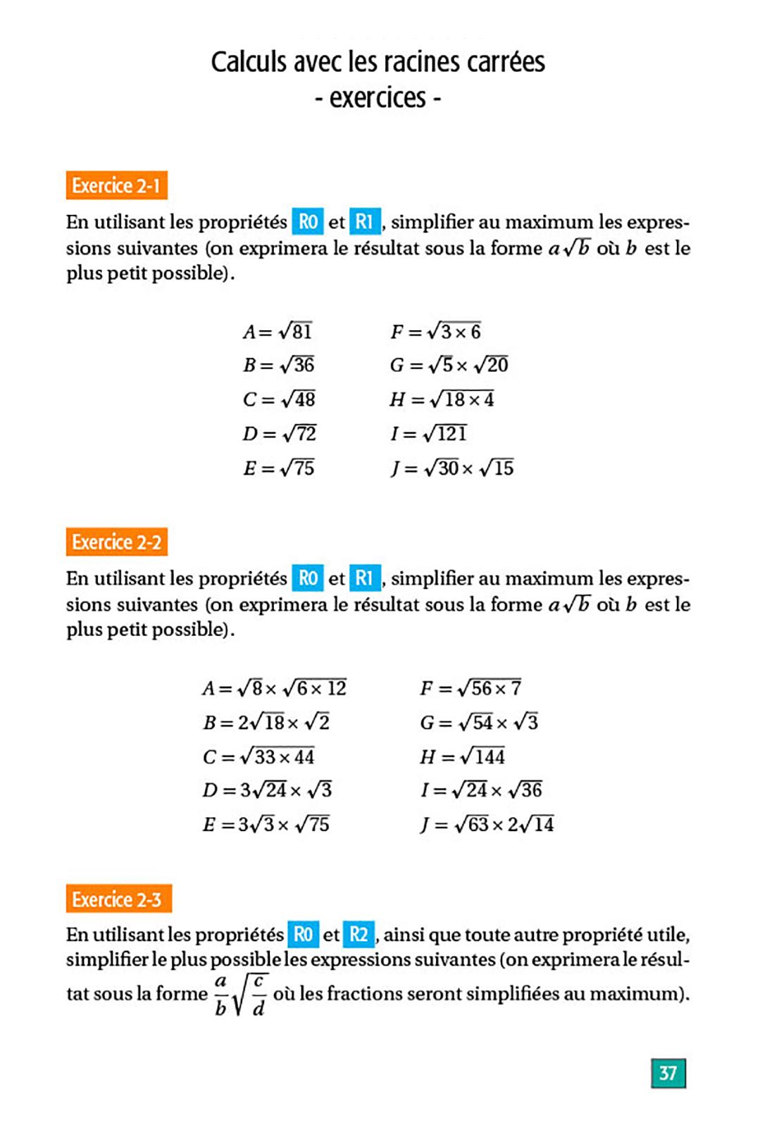 Maths Lycée Seconde - Réviser Les Fondamentaux intérieur Exercice De Math Sur Les Puissances