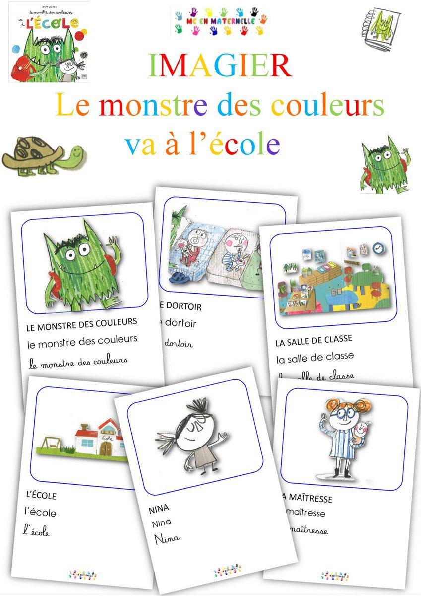 """Mc En Maternelle On Twitter: """"le Monstre Des Couleurs Va À L tout Imagier Ecole"""