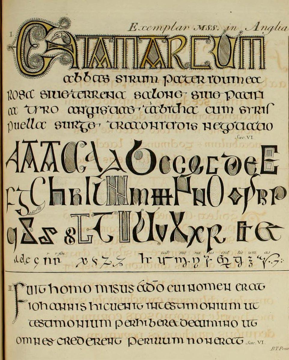 "Medieval Manuscripts Auf Twitter: ""here's The Printed avec Majuscule Script"