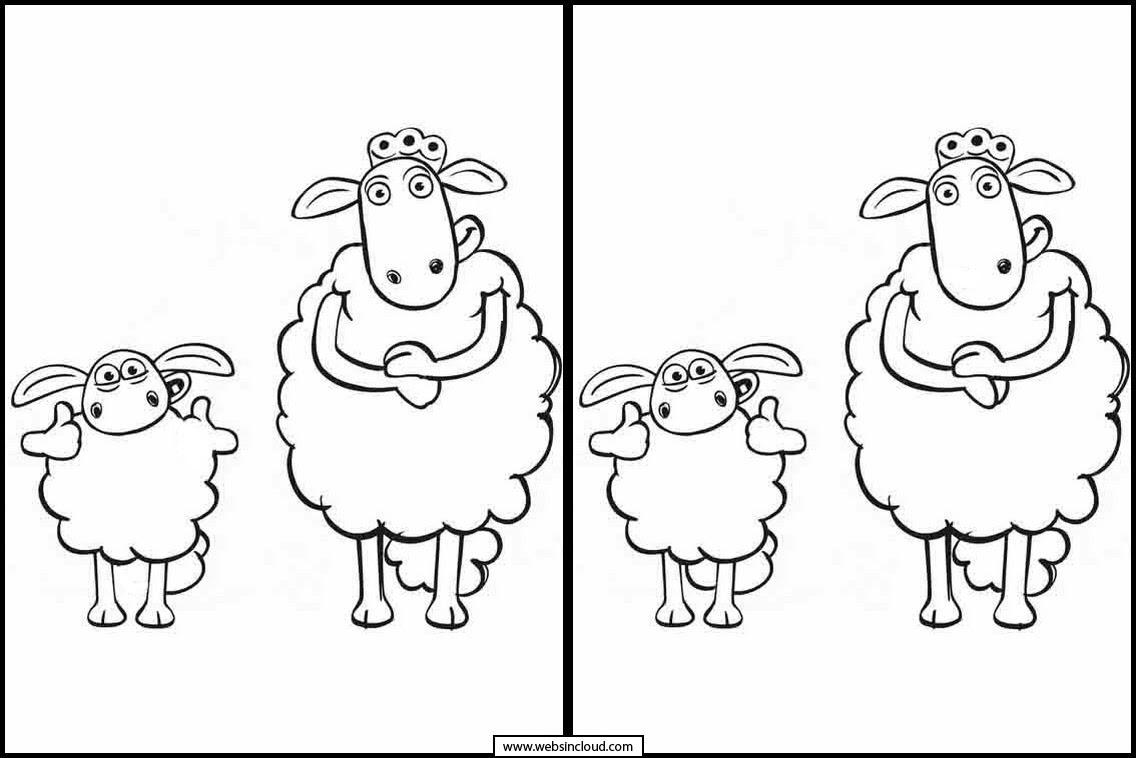 Meliluc And The Moutons: Trouvez Les 7 Différences tout Jeu Des 7 Differences
