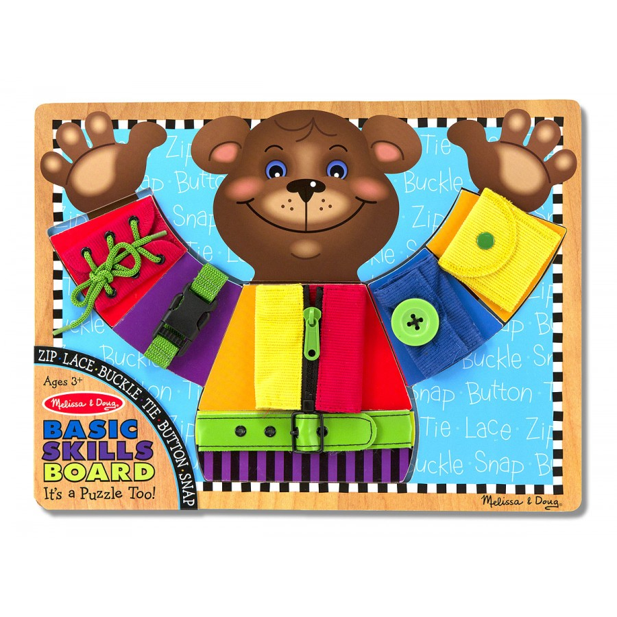 Melissa-Doug-Basic-Skills-Board-Wooden-Learning-Toy-Toddler tout Puzzle Fille 3 Ans