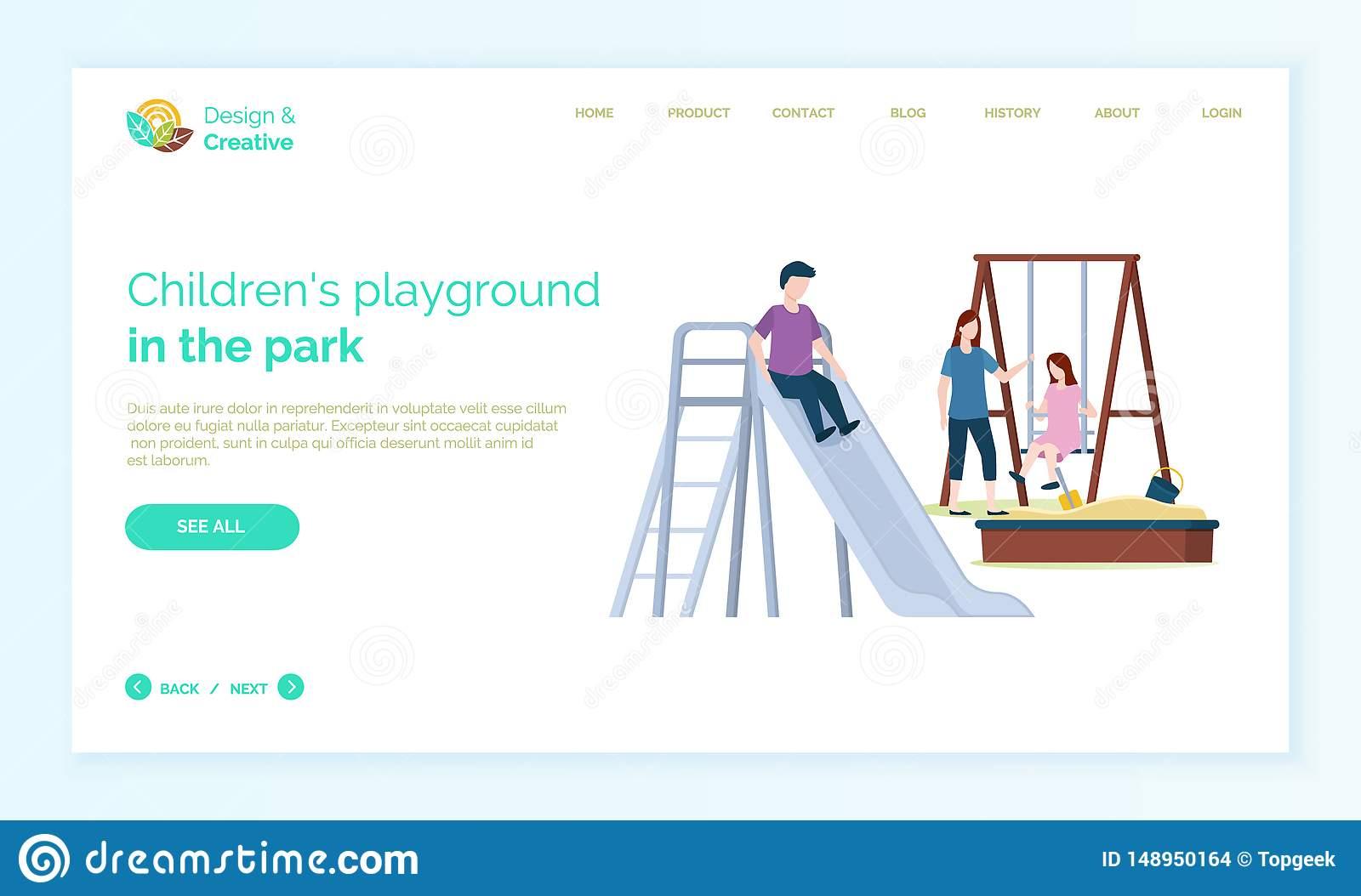 Mère De Terrain De Jeu D'enfants Avec Des Enfants Jouant Le avec Jeux En Ligne Pour Les Filles