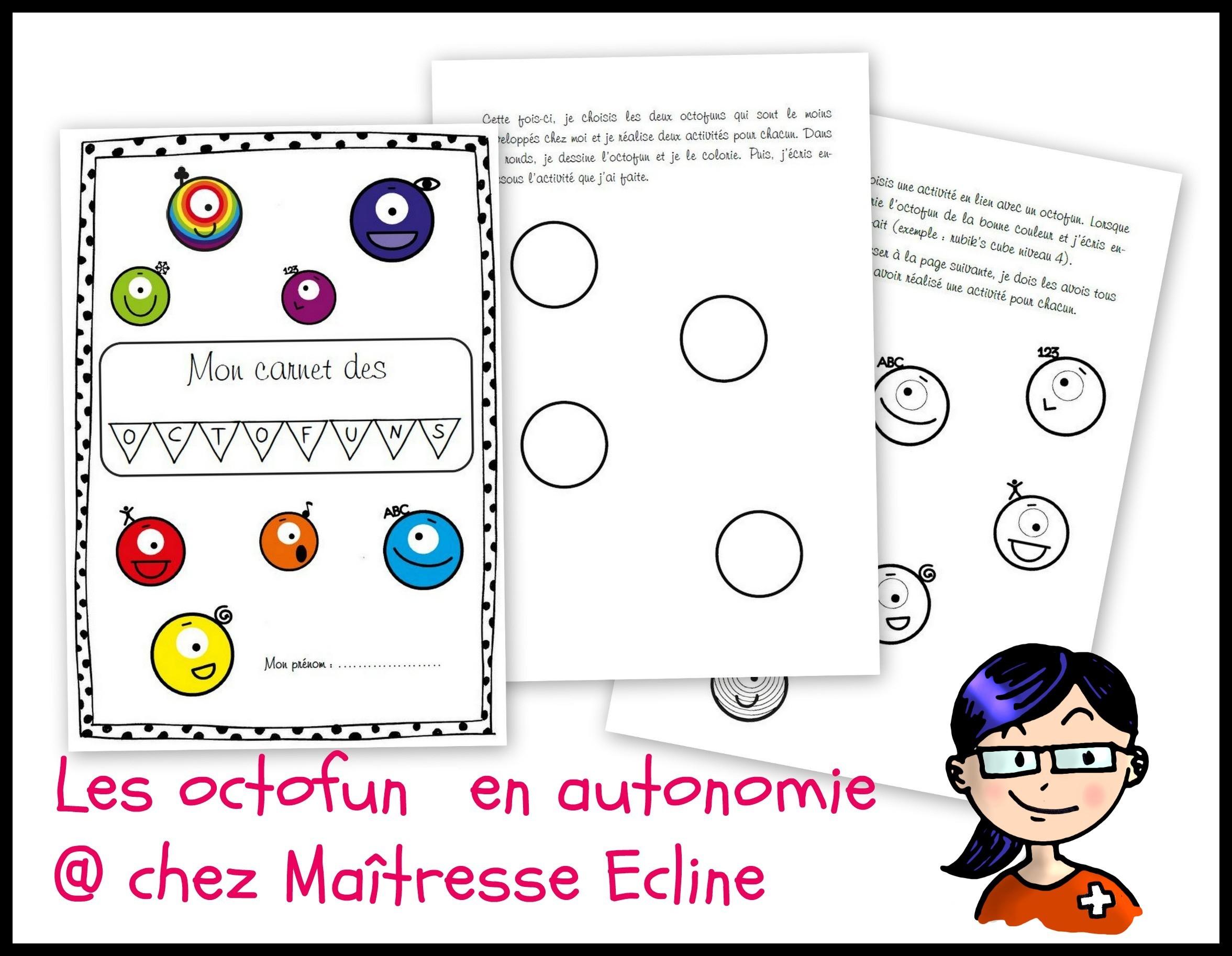 Mes Activités D'autonomie - Les Octofun - Chez Maîtresse Ecline destiné Activité Musicale Maternelle