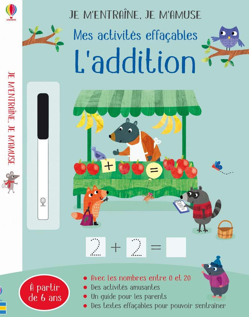 Mes Activités Effaçables : L'addition - Editions Usborne tout Activités Éducatives Pour Les 0 2 Ans