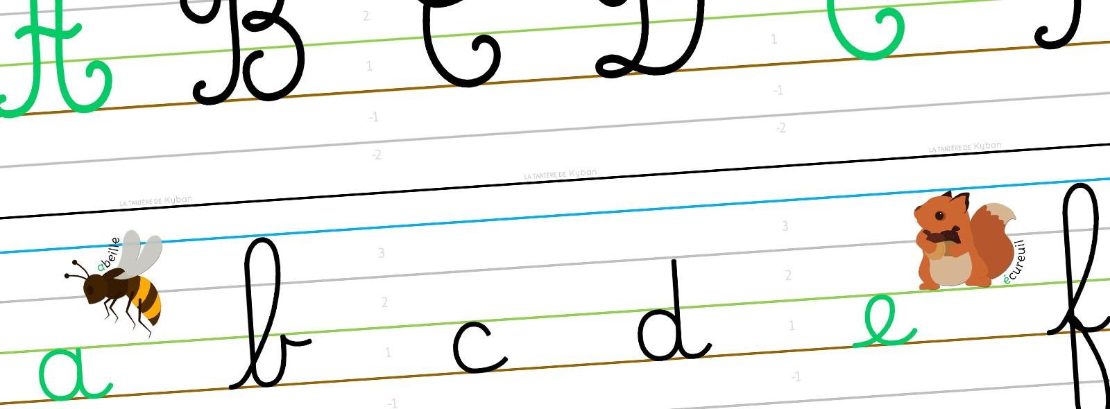 Mes Affichages Alphabet Et Écriture - Cursive Dumont - La serapportantà Ecriture Ce2 À Imprimer