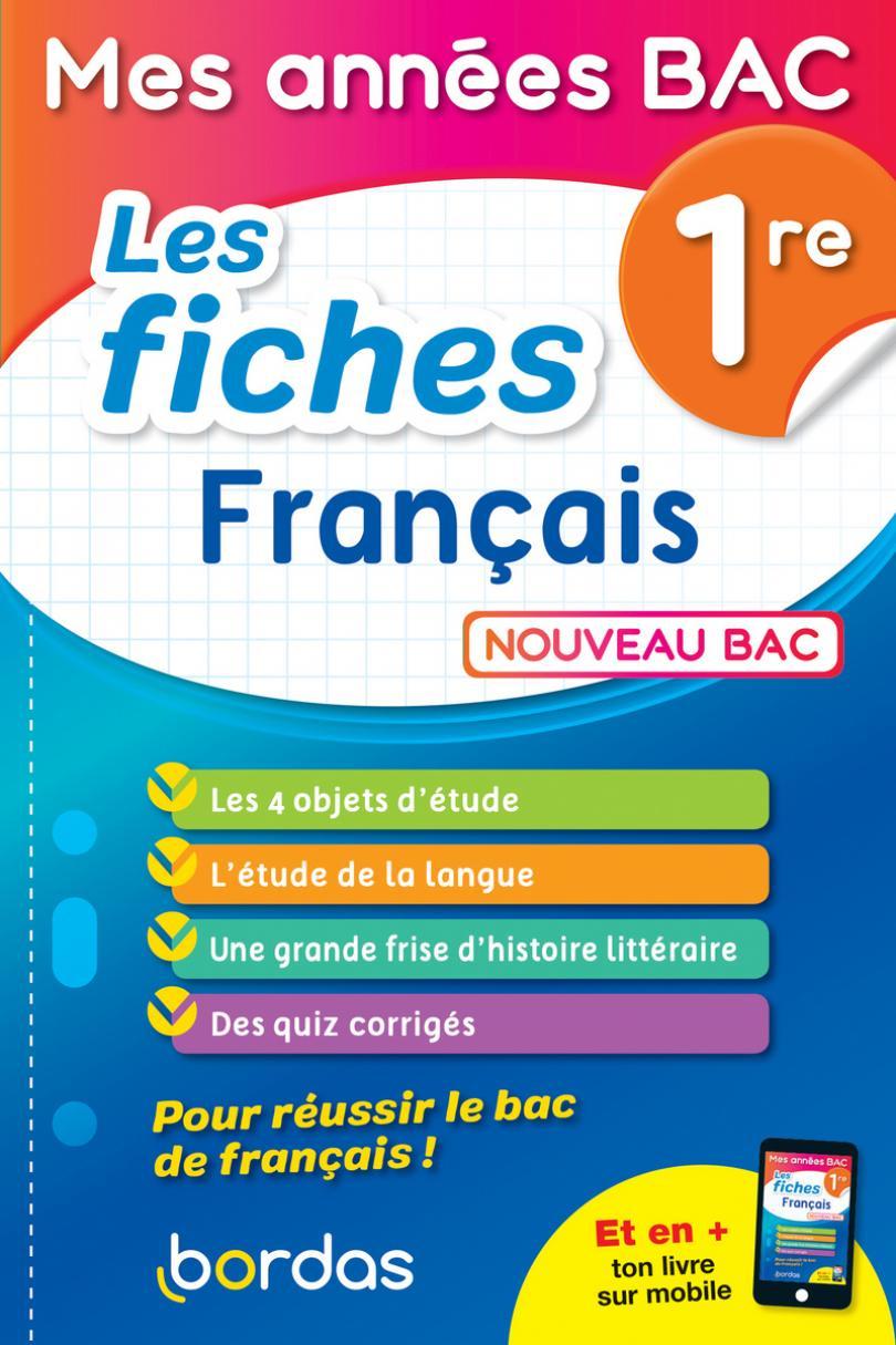 Mes Années Bac - Fiches Français 1Re * Ouvrage D intérieur Cahier De Vacances 1Ere S