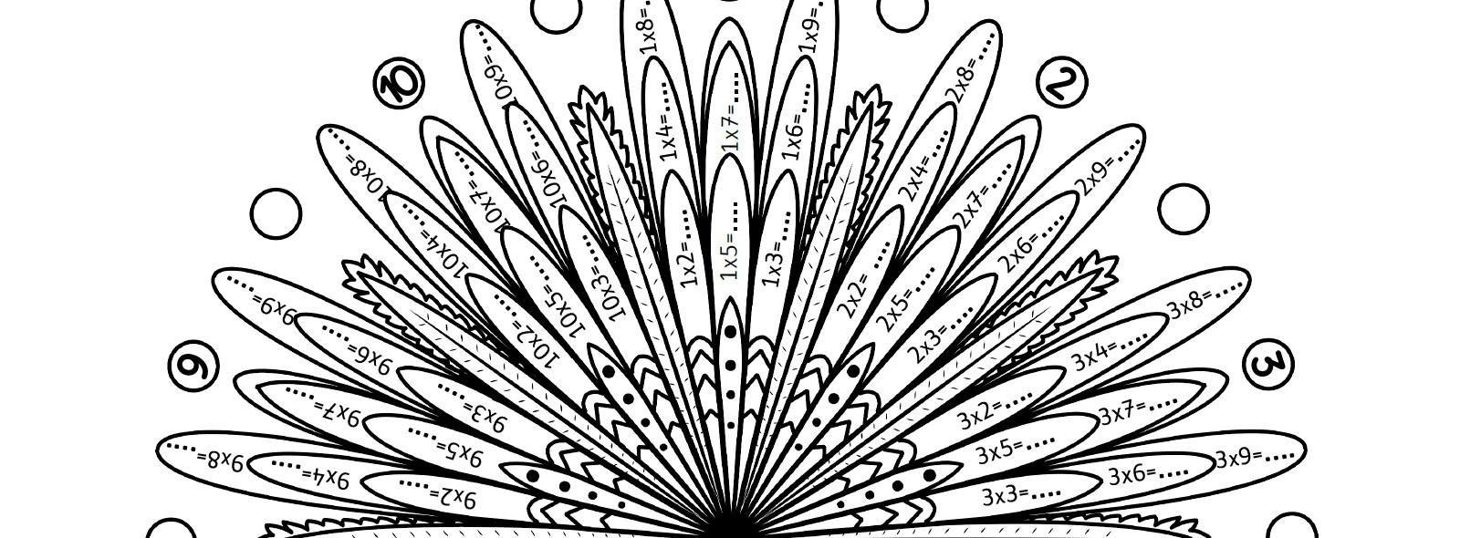 Mes Mandalas Des Tables De Multiplication - La Tanière De Kyban tout Jeux De Coloriage Magique Cm1