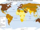 Mesurer Le Développement : La Carte De L'idh 2017 - Cartolycée pour Carte Du Monde À Compléter En Ligne