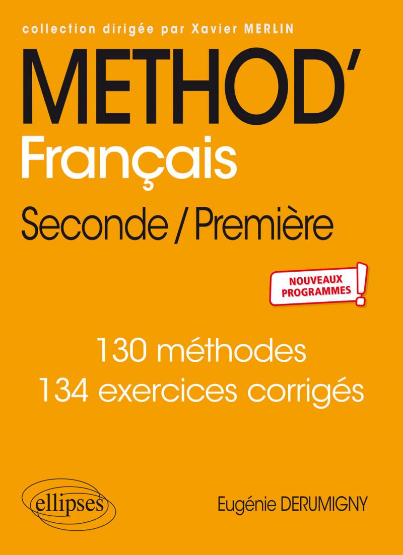 Méthod' Français Seconde/première tout Cahier De Vacances 1Ere S