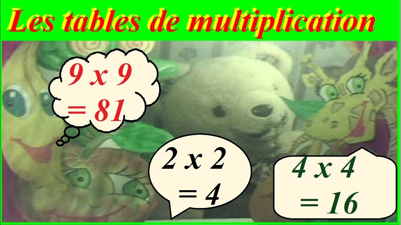 Méthode Pour Apprendre Les Tables De Multiplication De 1 À 10 En S'amusant dedans Apprendre Les Tables En S Amusant